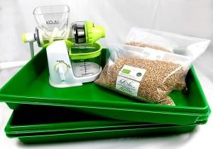 Wheatgrass starter kit, eat myself healthy